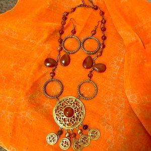 Brass necklace set